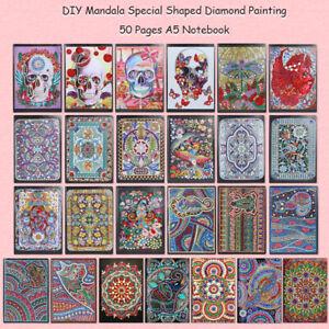 5D-DIY-Mandala-Diamond-Painting-50-Sheets-A5-Notebook-Diary-Book-Sketchbook