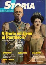 STORIA ILLUSTRATA=N°272 7/1980=VITTORIO ED ELENA AL PANTHEON?=CUBA 1898=SPARTACO