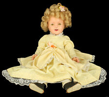 "VINTAGE 1930'S IDEAL SHIRLEY TEMPLE 18"" SLEEPY EYE COMPOSITION TOY DOLL"