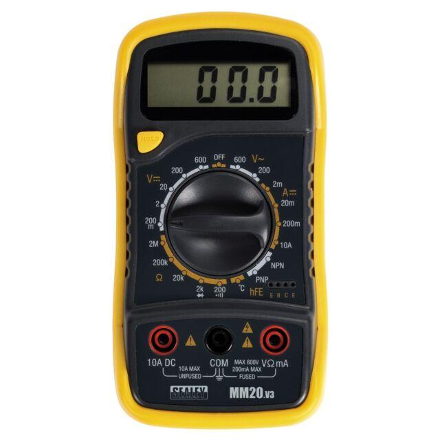 Sealey 8 Función Multímetro Digital Termopar AC Dc Corriente Electricistas