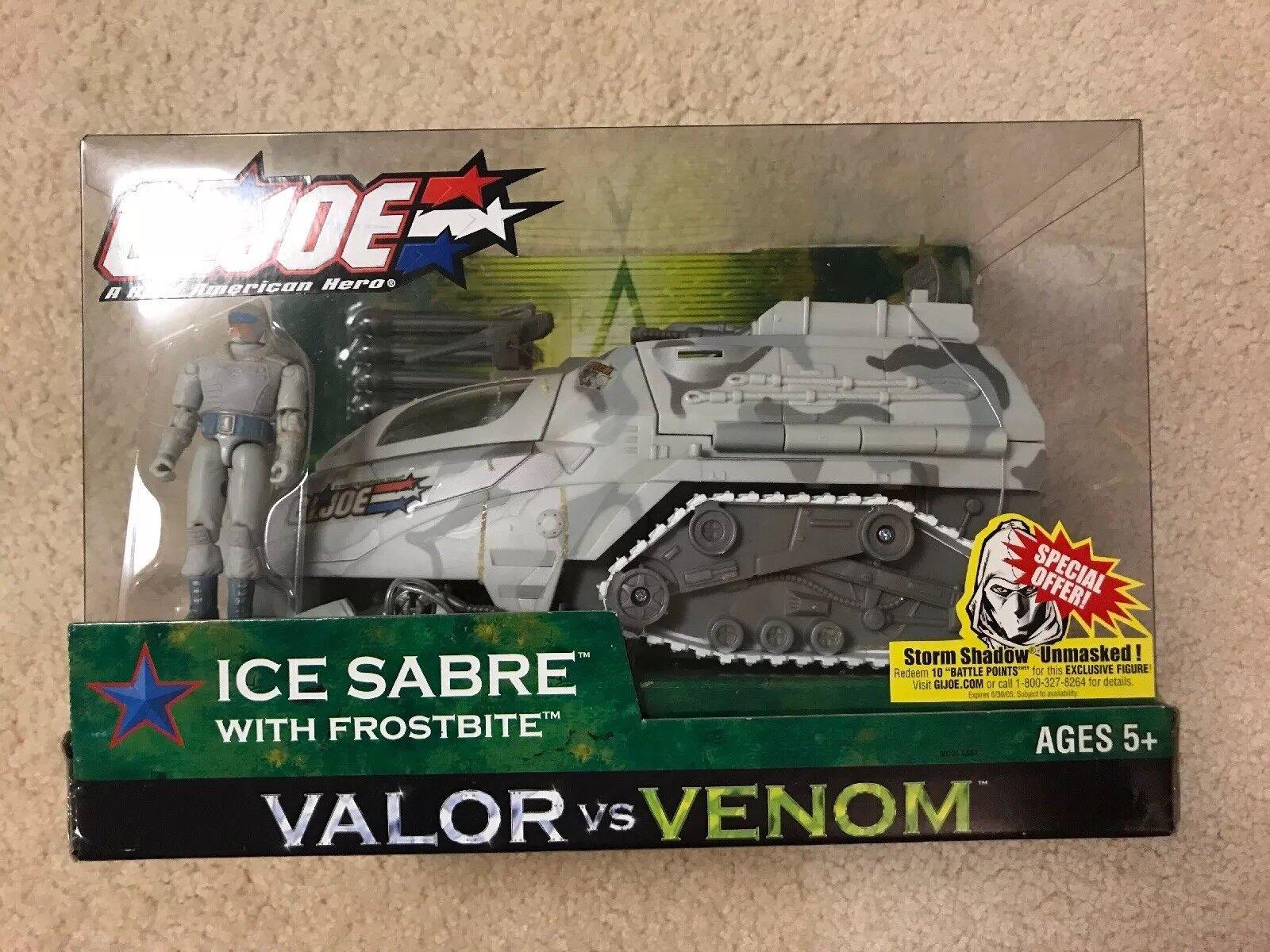 G.I. Joe GIJOE Valor vs Venom Ice Sabre Vehicle with Frostbite NIB Hasbro 2004