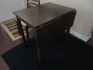 Great Image Is Loading Dark Wood Drop Leaf Table With 2 Chairs