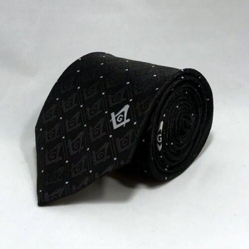 Style 2 Black Masonic Square /& Compasses Woven Necktie