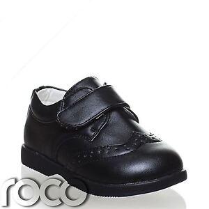 Baby Boys Matt Black Shoes, Boys Formal Shoes, Velcro ...