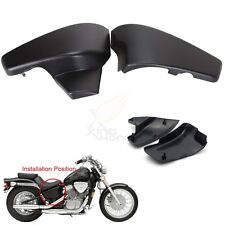 Black Battery Side Covers Fit Honda VT 600 C Shadow VLX Deluxe 1999-2007 NEW