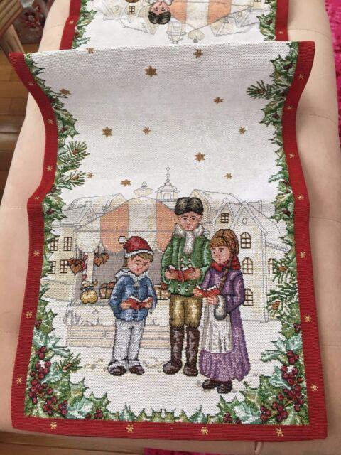 Tischläufer Christmas Toys Villeroy /& Boch Gobelinstickerei Winterkinder