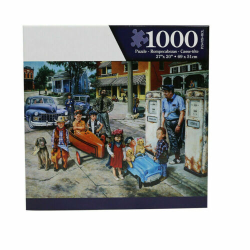 1000 Piece Games Puzzles Educational Puzzle Kids DIY Children and Cars Jigsaw