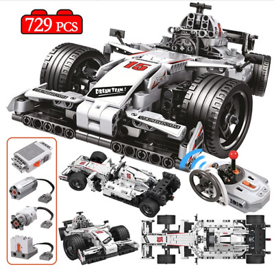 729pcs City Technic Rc F1 Formula Racing Car Drift Electric Building Blocks Toys Ebay