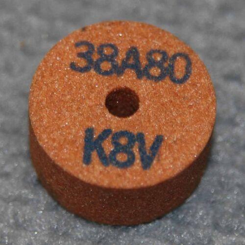 E-1-2-9-7 NORTON 38A80K8V 1 X 1//2 X 3//16 GRINDING WHEEL