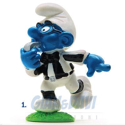 Puffo Puffi Smurf Smurfs Schtroumpf 2.0191 20191 Brainy Referee Puffo Arbitro 1a Fornitura Sufficiente