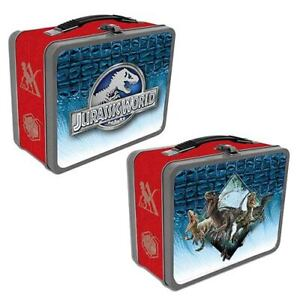 BRAND NEW 2021 Tin Totes Jurassic World Raptors Metal Lunch Box