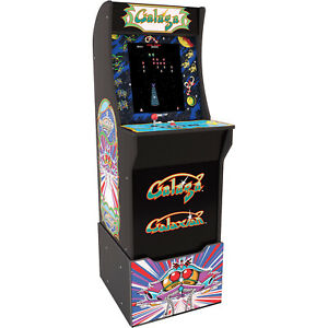 Galaga-Arcade-1-UP-Machine-Riser-Marquee-Arcade1UP-Retro-Cabinet-Video-Game