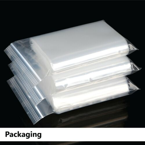100 ✖ Reclosable Clear Plastic Bag Resealable Zip Lock Bags Polythene Bags