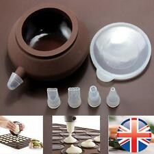 *UK Seller* Silicone Macaron Macaroon Icing Piping Pouch With 4 Nozzles Mould