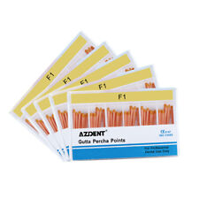 5x Dental Gutta Percha Points F1 For Endo Root Canal Obturating 60pcsbox