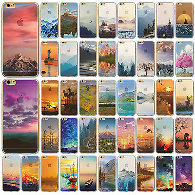 """New Nature Printed Soft Thin TPU Case Cover For Apple iPhone 4S 5S 6 4.7"""" 6 Plus"""