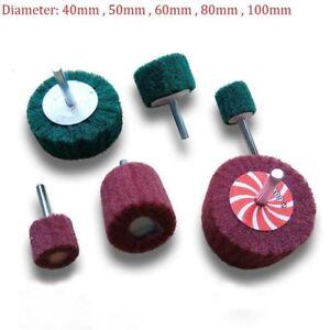 Details about 40mm-100mm Flap Wheel Nylon Abrasive Scotchbrite Sanding Mop  6mm Shank For Drill