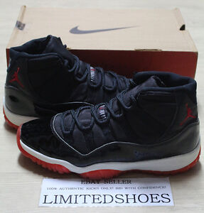 buy online 7665f c0257 Details about 1995 NIKE AIR JORDAN 11 XI BRED OG TRUE RED 130245-062 US 11  concord space jam