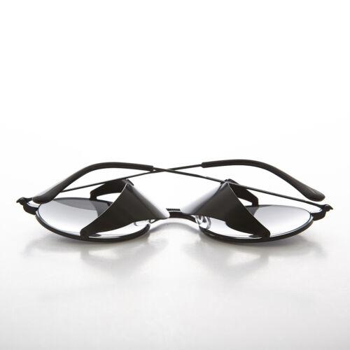 Bram Black Metal Steampunk Sunglass with Folding Side Shields Gray Lens
