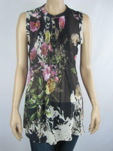 Katies Ladies Feminine Noir Sleeveless Top size 8 Colour Floral Multi Print