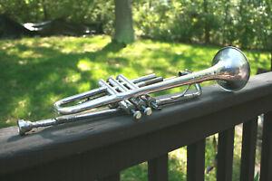 Vintage Trompette Art Deco Selmer Vincent Bach #73514 Usa-afficher Le Titre D'origine