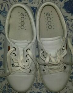 Ecco White Leather Trainers size 2 uk