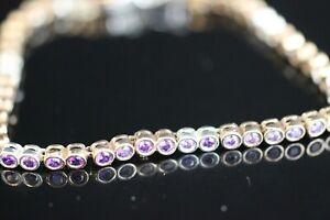 925-Sterling-Silver-Handmade-Authentic-Turkish-Amethyst-Bracelet-Bangle-Cuff