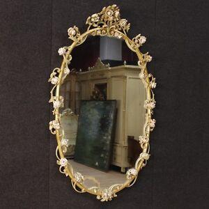 Specchiera laccata mobile specchio stile antico legno fiori ...