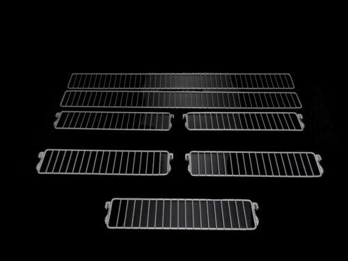 2x EINSTECKGITTER 100cm 5x TRENNGITTER H 9,5cm T 47 REGALE TEGOMETALL GEBRAUCHT