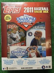 2011 Topps Baseball Sealed Value Box 5 Update +1 Bowman Chrome Mike Trout ?!🔥👀