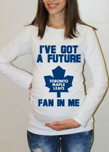 best service 8cff8 840c6 Details about Toronto Maple Leafs Baby Shower Maternity Shirt Hockey Baby  Pregnancy T-shirt