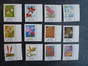1991-GRENADA-GRENADINES-SET-OF-12-ORCHID-MINT-STAMPS-MNH