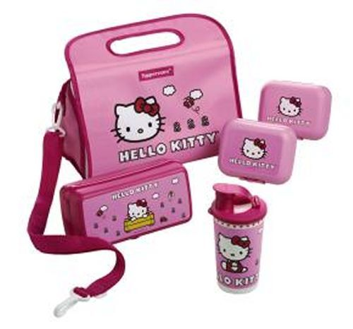 Tupperware Tupperware Tupperware Hello Kitty Lunch Solutions 5-Pc Set with Insulated Bag 89ae3c