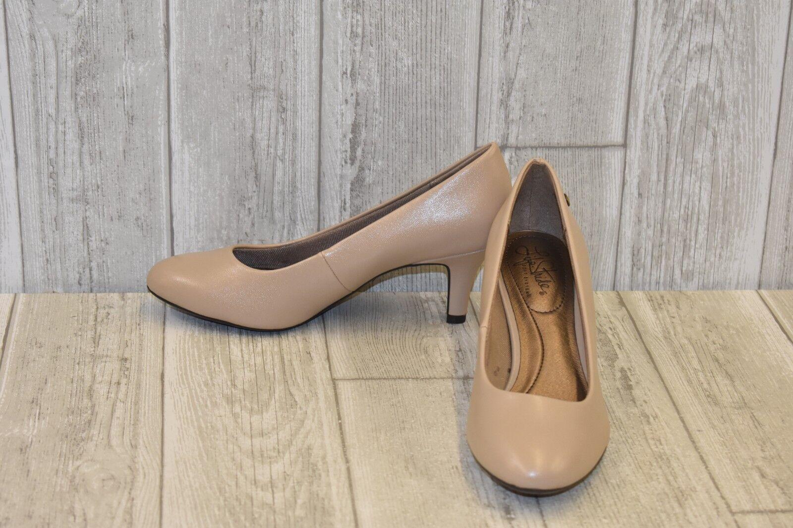 LifeStride Pargi Heels - Women's Size 7.5 M - Taupe Vinci