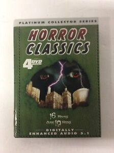 HORROR-CLASSICS-4-DVD-SET-PLATINUM-COLLECTOR-SERIES-16-MOVIES-Over-19-Hours
