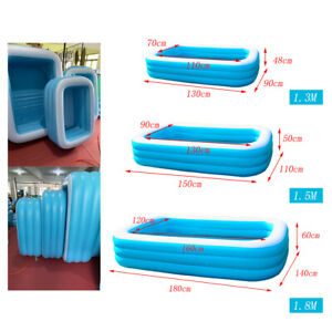 Durable-Inflatable-Swimming-Pool-Rectangular-Garden-Family-Paddling-Large