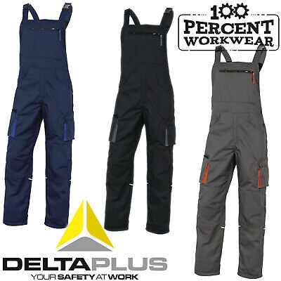 Heavy Duty High Quality Tradesman Bib And Brace Work Overalls Dungarees Trousers