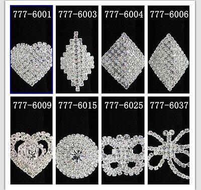 New 6/12/24pcs women's Fashion  Big Crystal Rhinestone Rings party prom jewerly