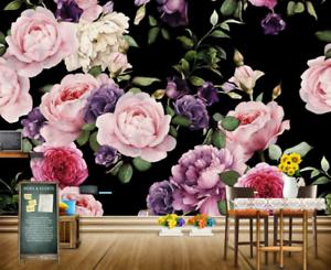 Papel Pintado Mural De Vellón Hermosas Flores Retro 2 Paisaje Fondo De Pansize