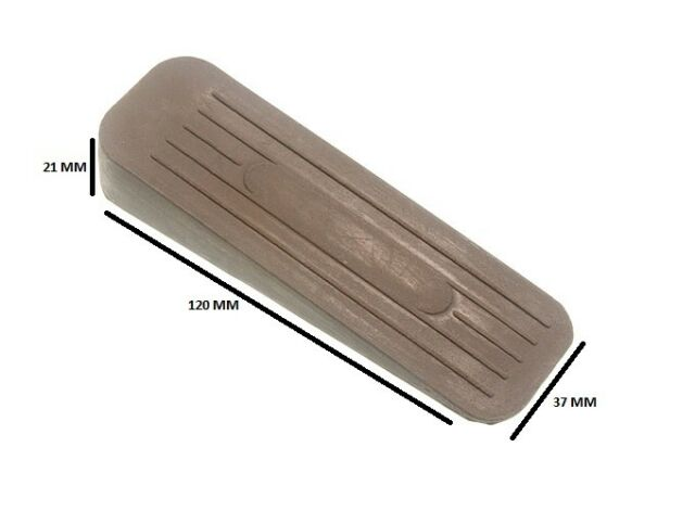 QTY  OF 20 WINDOW JAM STOP WEDGE RUBBER WHITE 16G2