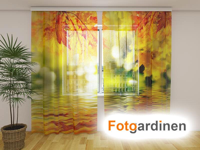 Foto visillos de gasa  otoño  cortina con motivo, impresión fotográfica, a medida