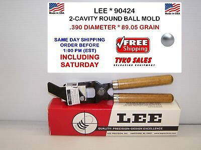 .360 DIAMETER 90418 70.04 GRAIN LEE 2-CAVITY LEE 90418 ROUND BALL MOLD