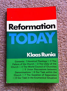 Klaas-Runia-REFORMATION-TODAY-1968-First-Edition-Book-Christianity-Church-1st