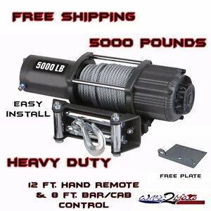 5000 lb pound winch kit atv quad utv sxs muv yamaha viking rhino
