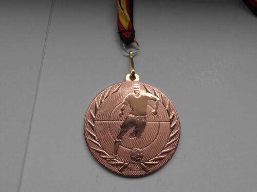 Fußball Pokal 20 x Medaillen 50mm mit Deutschland-Bändern Turnier Emblem Pokale