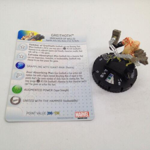 #024 Rare figure w//card! Heroclix Fear Itself set Greithoth The Worthy