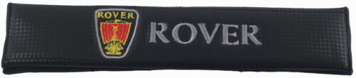 Rover Whit Logo Carbon Car Safety Seat Belt Shoulder Pads Comfortable /& Stylish
