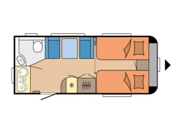 Hobby Excellent 460 SL DK-Line, 2021, kg egenvægt 1176