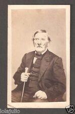 Vtg Civil War Era CDV Man with Walking Stick Photo 2 Cent Proprietary Stamp R13