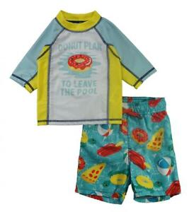 aebffd3498 P.S. from Aeropostale Boys Donut Plan Rashguard Swim Set Size 2T 3T ...